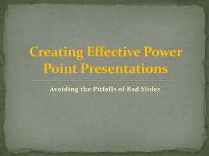 Avoiding the Pitfalls of Bad Slides