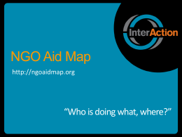 NGO Aid Map: Who is Doing What Where?