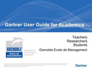 Gartner User Guide for Academic