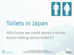 Toilets in Japan (PPT)