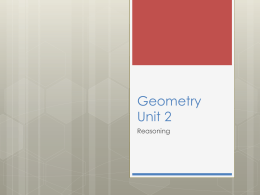 Geometry Unit 2 Reasoning Lessons - math-b
