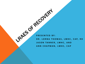 LRAES of Recovery - Florida Alcohol and Drug Abuse Association