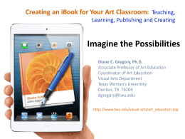 Creating an iBook for the Art Classroom