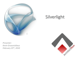 Silverlight - ArchitectNow