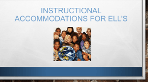 Accommodations PP for ELLs