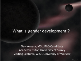 `gender development`?