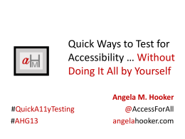 Quick ways to test for accessility