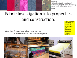Fabric Investigation - Villiers High School