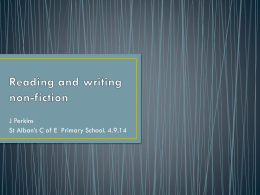 English – Reading and Writing Non-Fiction