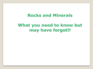 Grade 3 Rocks and Minerals Review