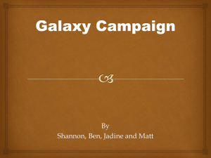 Galaxy Campaign – Presentation – FINISHED