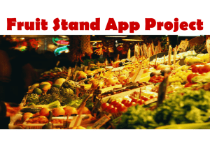 Fruit Stand App Project - University of Pennsylvania