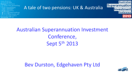 A Tale of two superannuation pensions