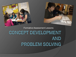 Concept development and Problem Solving