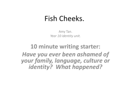 Fish Cheeks Amy Tan ppt