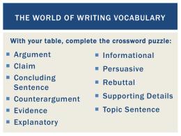 rebuttal in writing