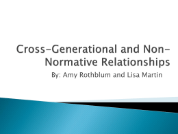 Intergenerational and Non