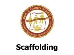 Introduction to Scaffolding PowerPoint