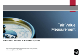 Fair Value Measurement - Financial Accounting Standards