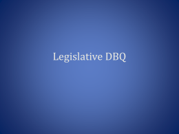 Legislative DBQ - Lindbergh School District