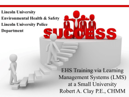 EHS Training via Learning Management Systems (LMS)