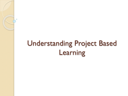 Understanding Project-Based Learning PowerPoint Presentation