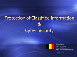 Protection of Classified Information & Cyber Security