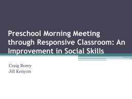 Pre-K Morning Meeting through Responsive Classroom: An