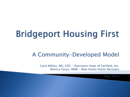 Bridgeport Housing First *