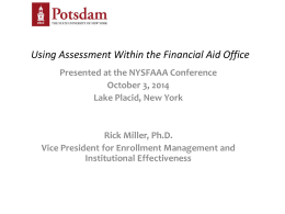 Using Assessment Within the Financial Aid Office