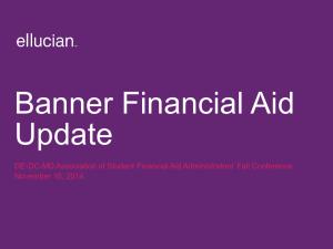 Banner Advancement Update and Ellucian's next-generation