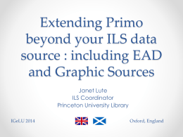 Expanding Primo beyond your ILS data source including