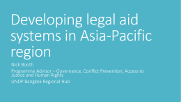 Developing Legal Aid Systems in Asia
