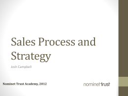 Sales Process and Strategy