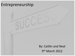 Entrepreneurship1 - NewTrendsinManagement