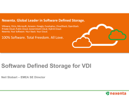 Software-Defined - Dell Desktop Virtualization Forum
