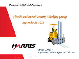 Recognizing and Handling Suspicious Packages Sept 2012