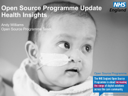 Andy Williams Open Source Programme Updated