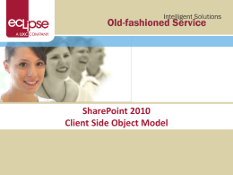 Client Side Object Model
