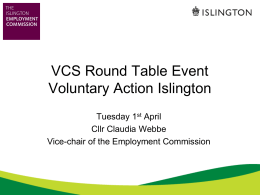 presentation - Voluntary Action Islington