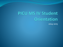 PICU Resident Orientation
