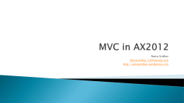 MVC in AX2012 - WordPress.com