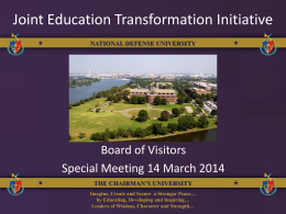 Joint Education Transformation Initiative