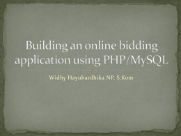 Building an online bidding application using PHP/MySQL