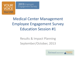 Impact Planning - University of Virginia Health System