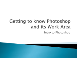 Chapter 1 - Getting to Know Photoshop and its Work Area