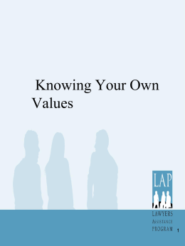 Knowing Your Own Values 2011