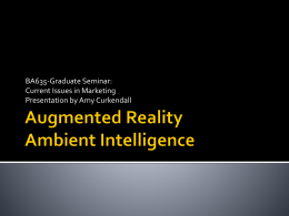 Augmented Reality & Ambient Intelligence