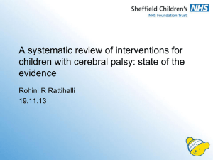 A systematic review of interventions for children with cerebral palsy