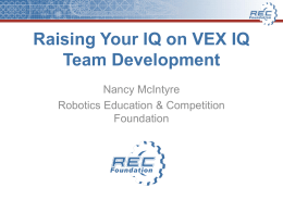 Vex U Robotics Education Competition Foundation